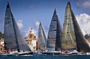 Fleet-at-the-start-of-the-Giraglia-Rolex-Cup-Saint-Tropez-at-the-background
